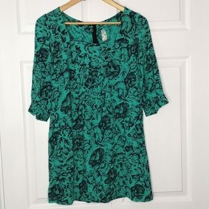 ANTHROPOLOGIE Maeve Floral Tunic Dress Size 2